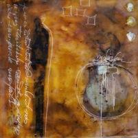 M. Thibault, visual art, encaustic painting. Wabi Sabi collection, art for sale