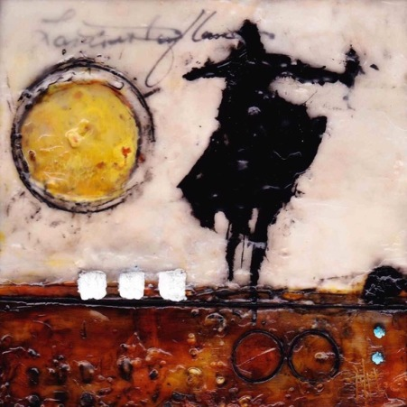 Michelle Thibault, visual art, encaustic painting, Envol