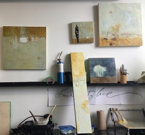 Michelle Thibault visual art, encaustic, wip