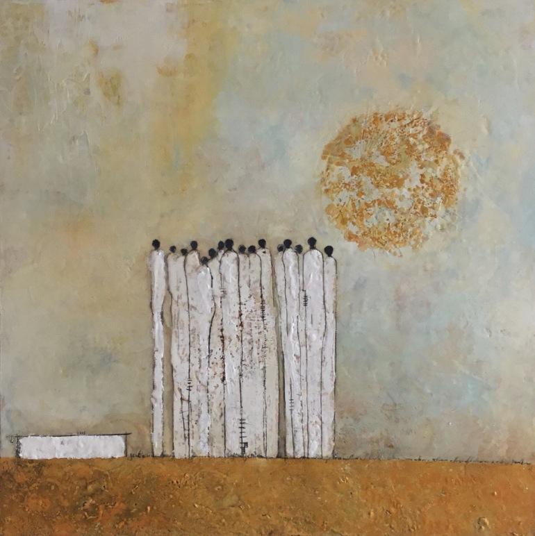 Michelle Thibault, Visual art, encaustic painting, mixed media