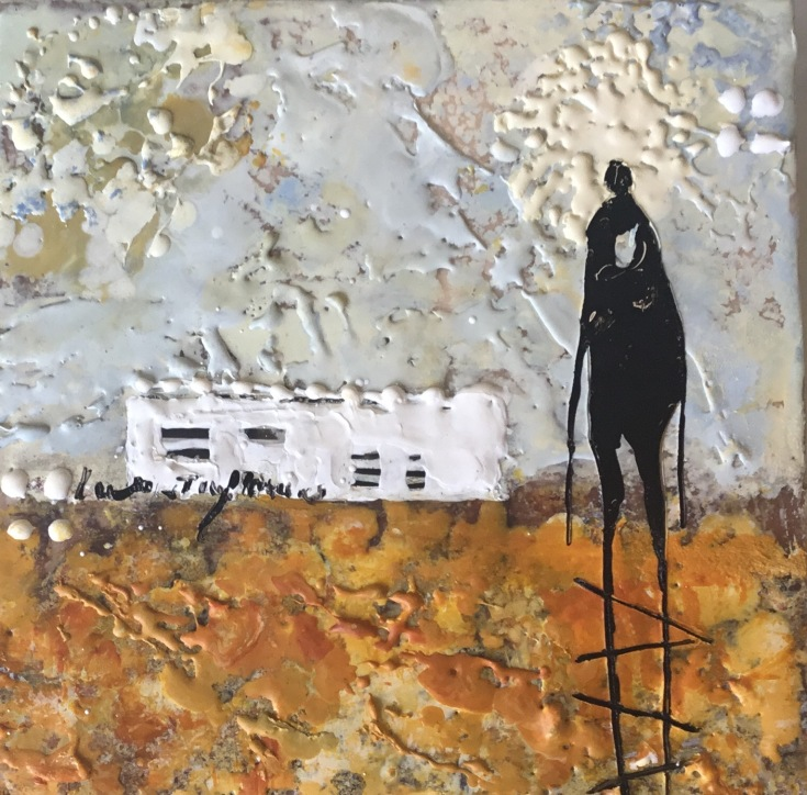 michelle thibault, encaustic painting, mixed media, art