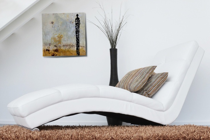 "Michelle Thibault, visual art, encaustic painting, Mujō, 20"" x 20"""
