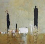 Michelle Thibault, visual art, mixed media, encaustic painting