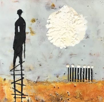 Michelle Thibault, encaustic painting, mixed media